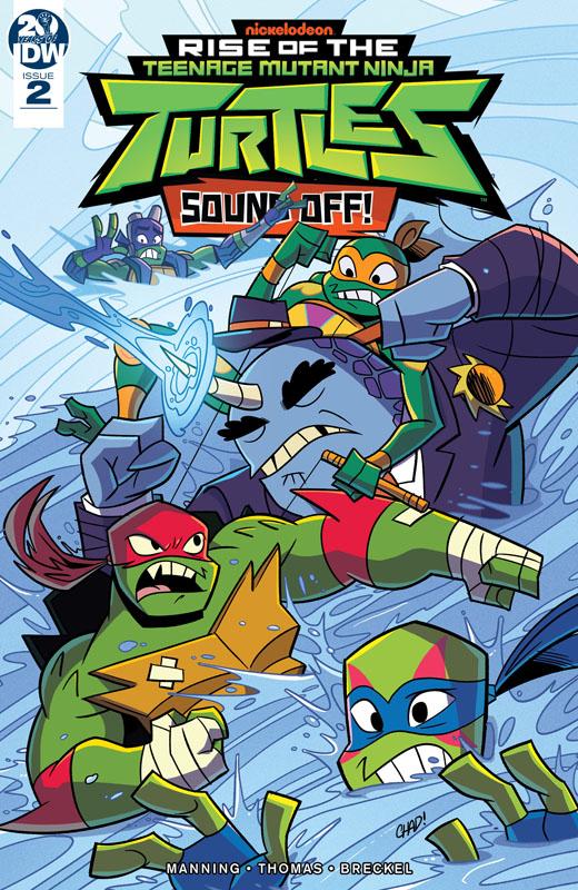 Rise of the Teenage Mutant Ninja Turtles - Sound Off! #1-3 (2019) Complete