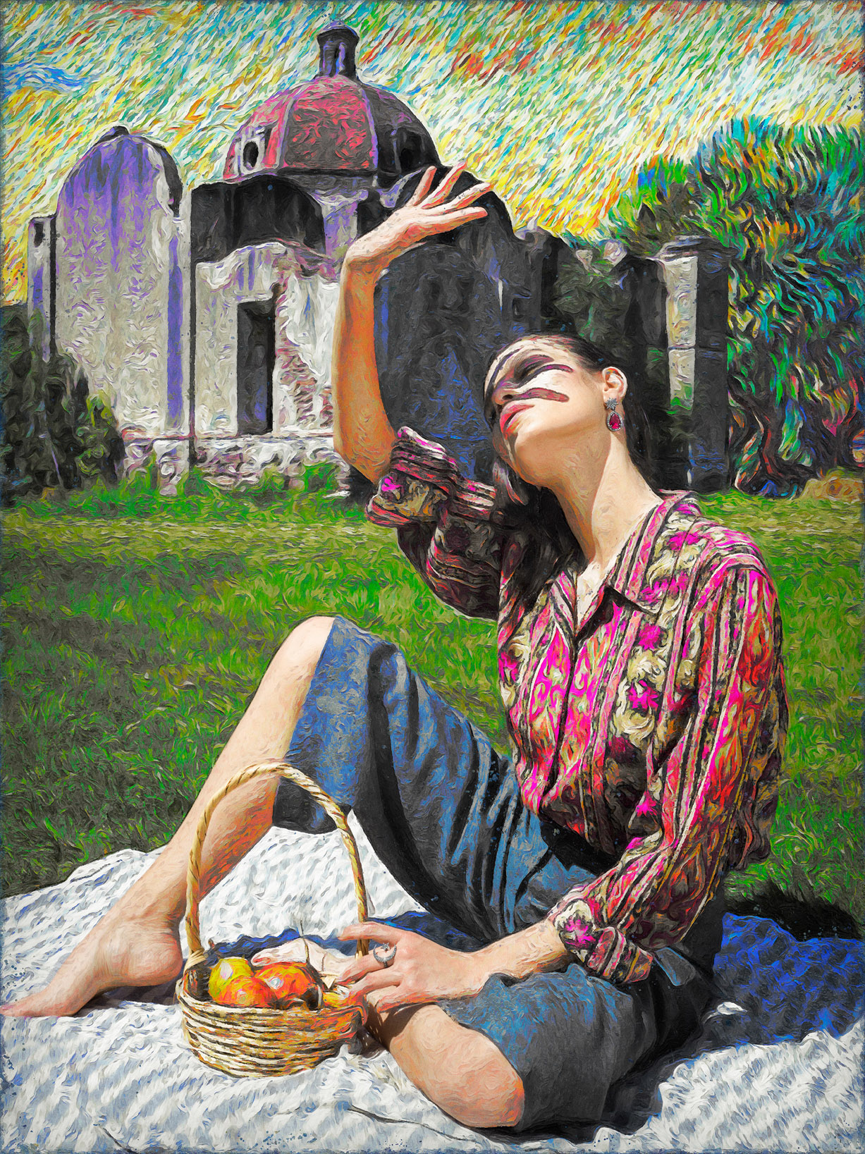 Реклама ювелирных изделий в стиле Ван Гога / фото 07