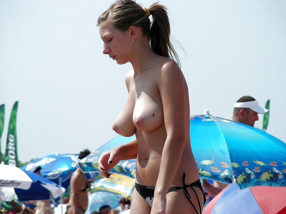 Big boobs nude on beach-6967