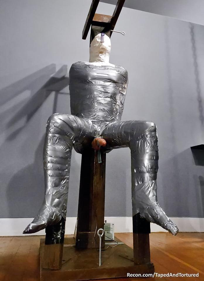 Mummification bondage girl-9693