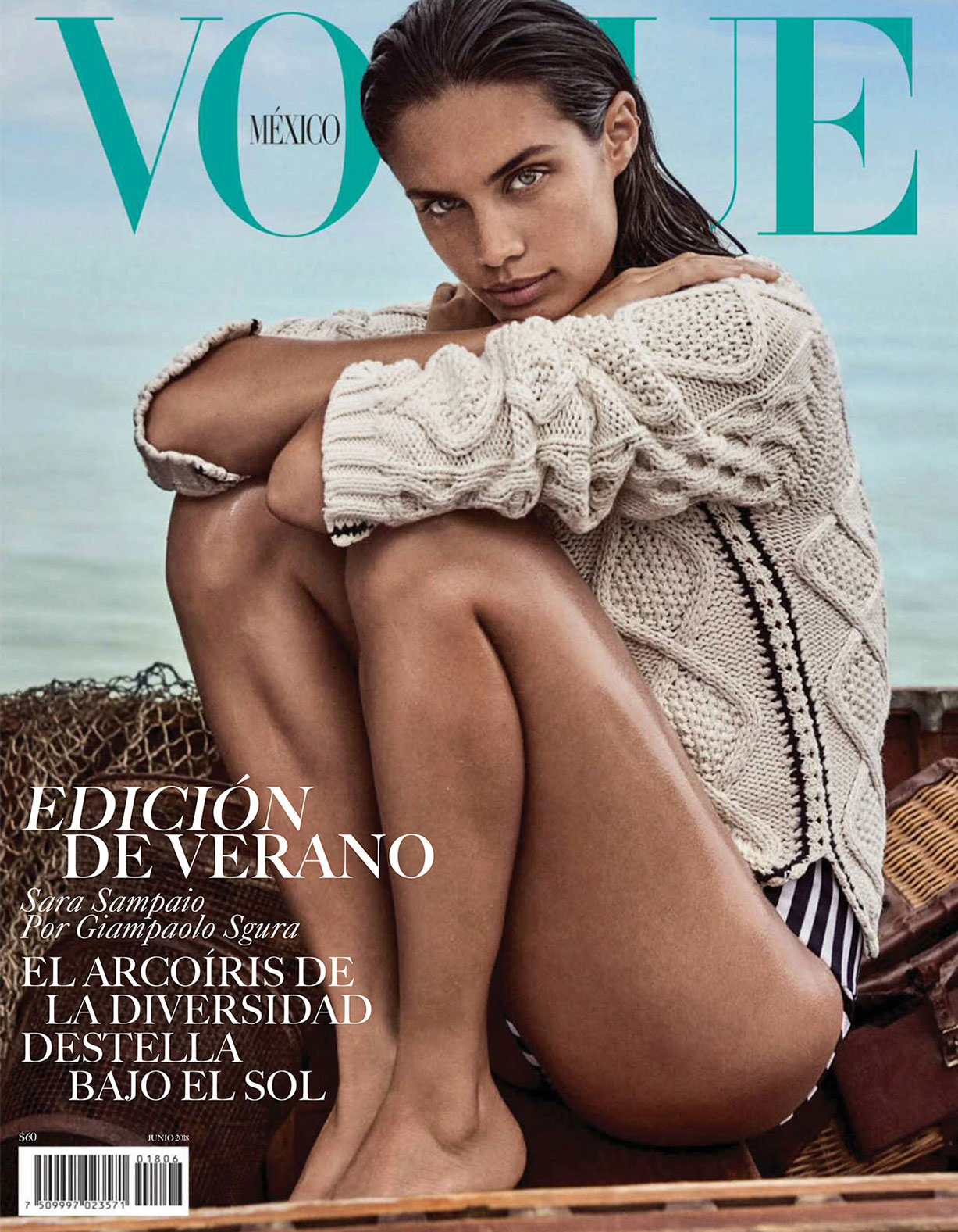 Hot Summer / Sara Sampaio and Jason Morgan by Giampaolo Sgura / Vogue Mexico june 2018