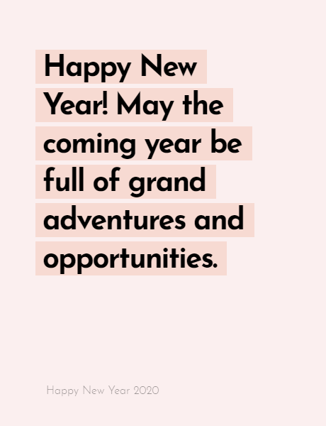 Happy New Year 2020 Wishes Quotes, Happy new year inspiration night 2020, wishes, messages & greetings 8
