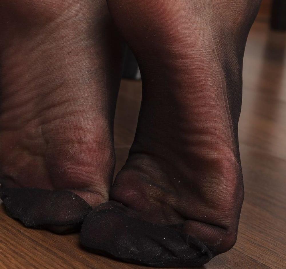 Nylon feet porn hd-6516