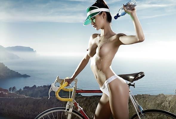 Girls bike with handle-2318