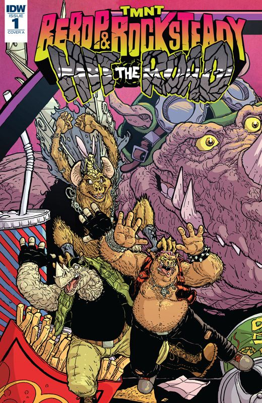 Teenage Mutant Ninja Turtles - Bebop & Rocksteady Hit the Road! #1-5 (2018) Complete