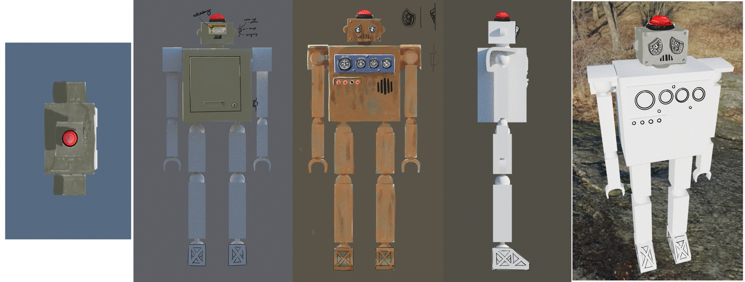 Robot Encounter – Character Design, Materiality