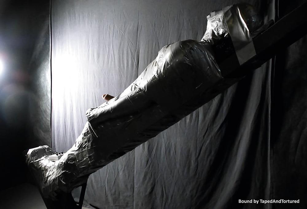 Mummification bondage girl-2830