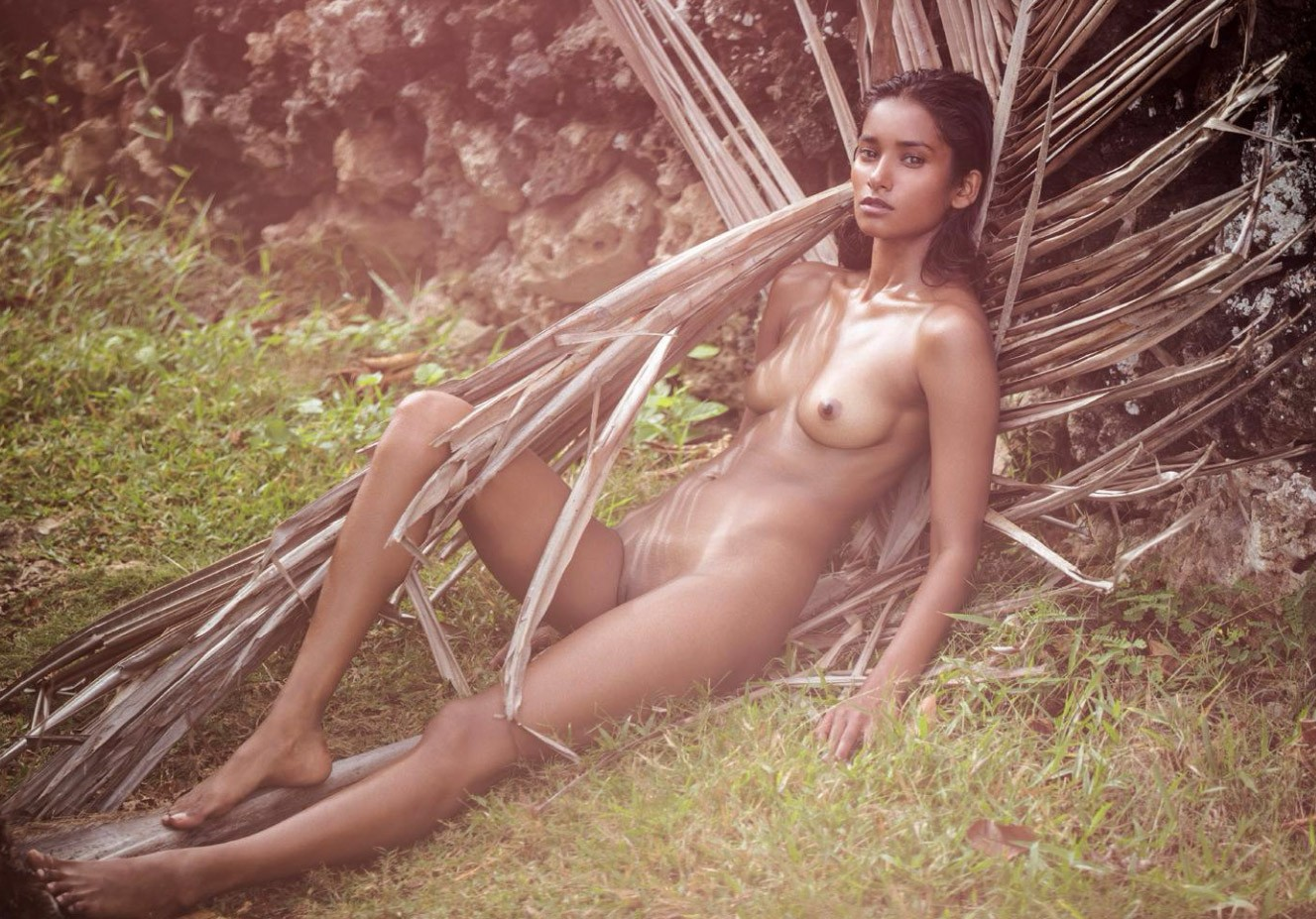 indian model Nidhi Sunil nude by David Bellemere - Treats! Magazine no12 summer 2017