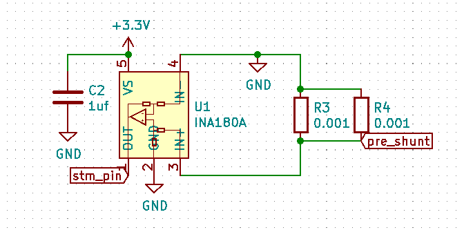 ina180a with 2 0.001 shunt resistors
