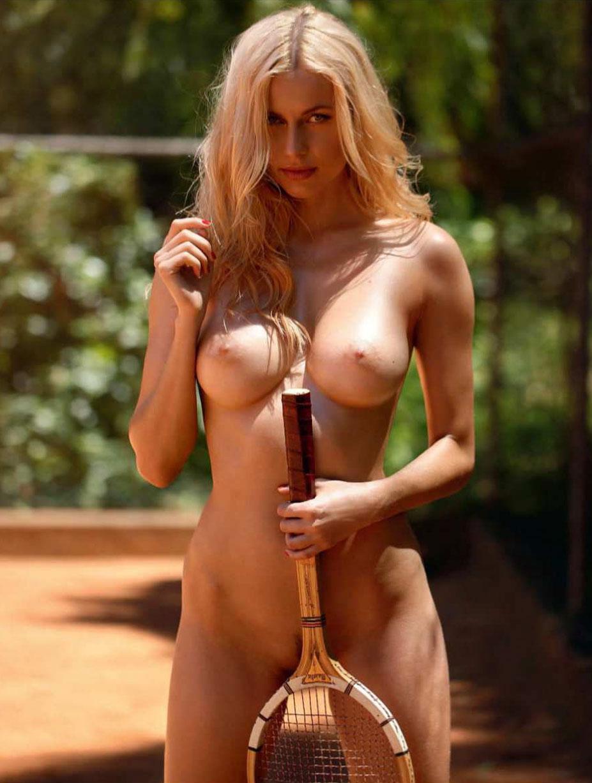 Сексуальный теннис с Ольгой де Мар / Playboy october 2018 Playmate - Olga de Mar by Ana Dias
