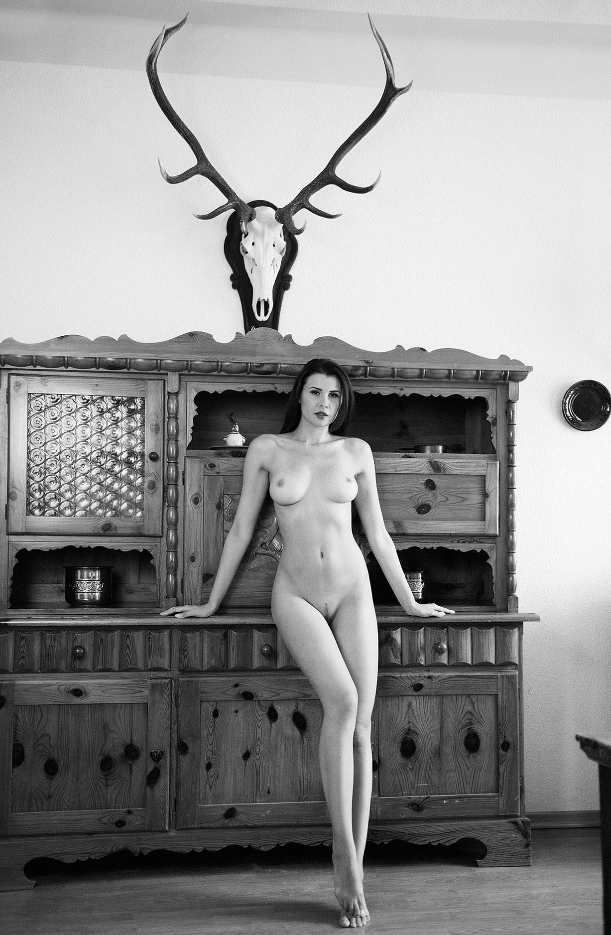 Обнаженная девушка в домике в горах / Bring Me Edelweiss by Martin Wieland