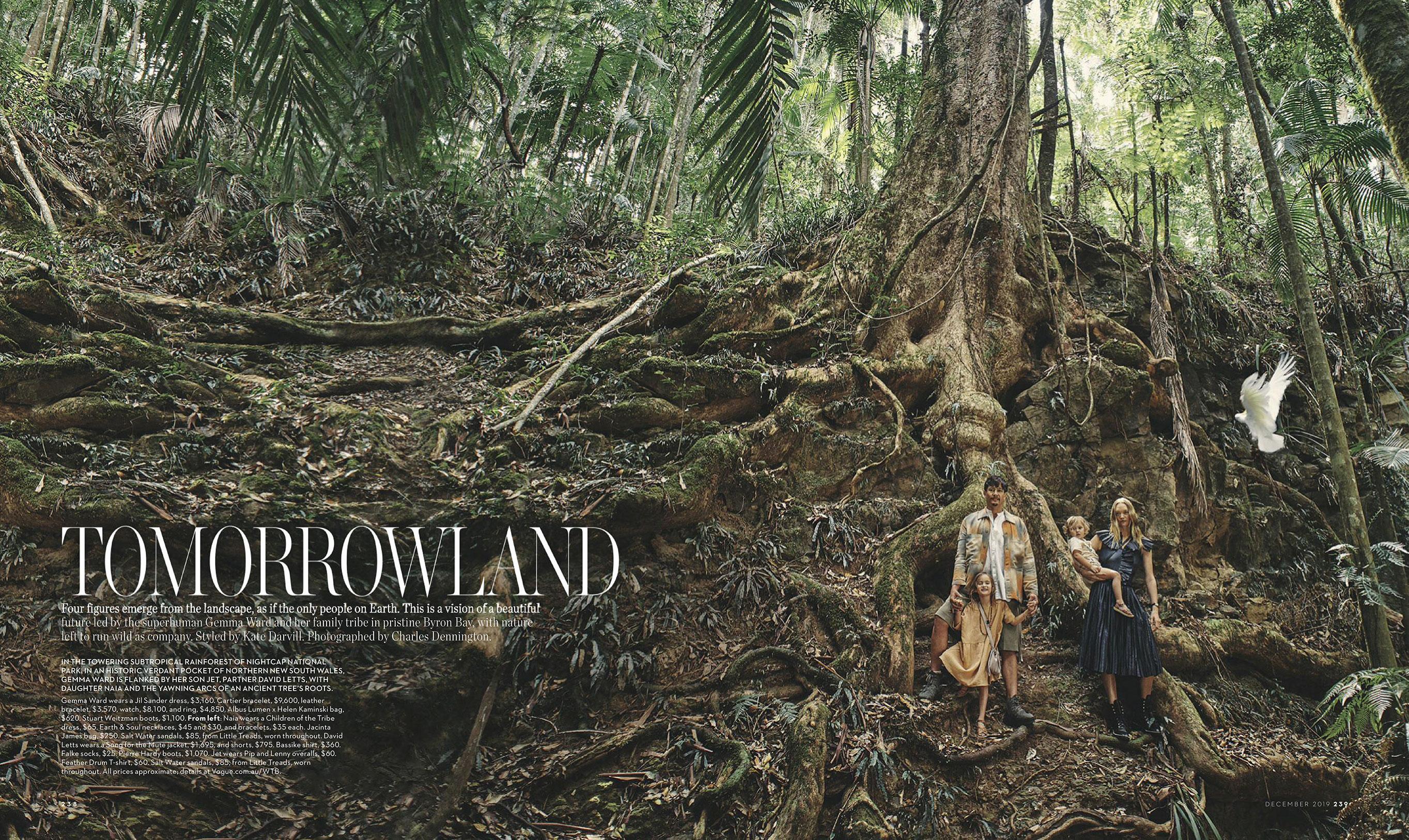 Джемма Уорд с семьей путешествует по лесам Нового Южного Уэльса / фото 01