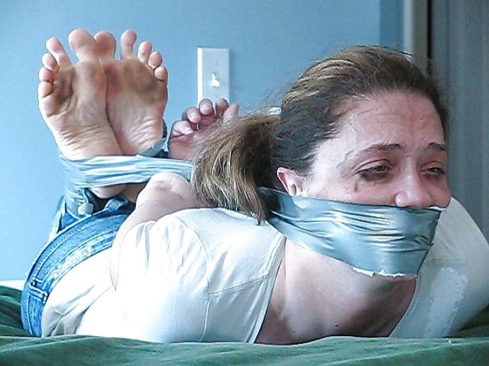 Bondage tickle feet-1160