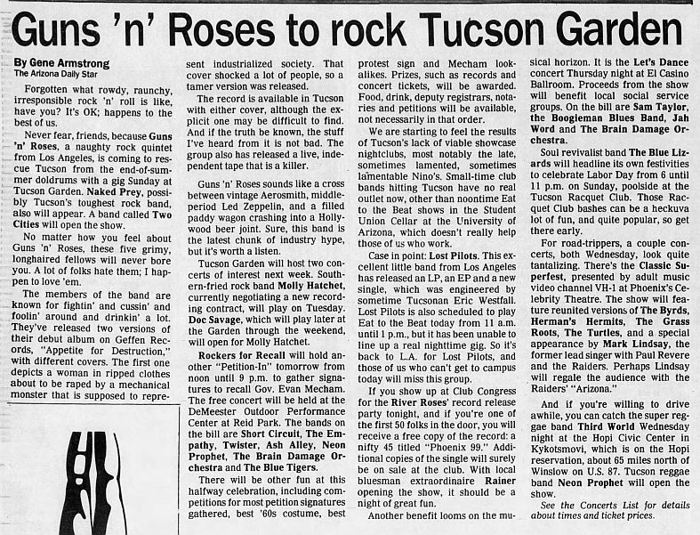 1987.09.06 - Tucson Garden, Tucson, AR, USA UZnhrRtR_o