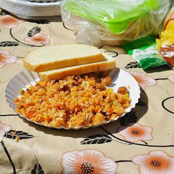 Рис с соевым гуляшом