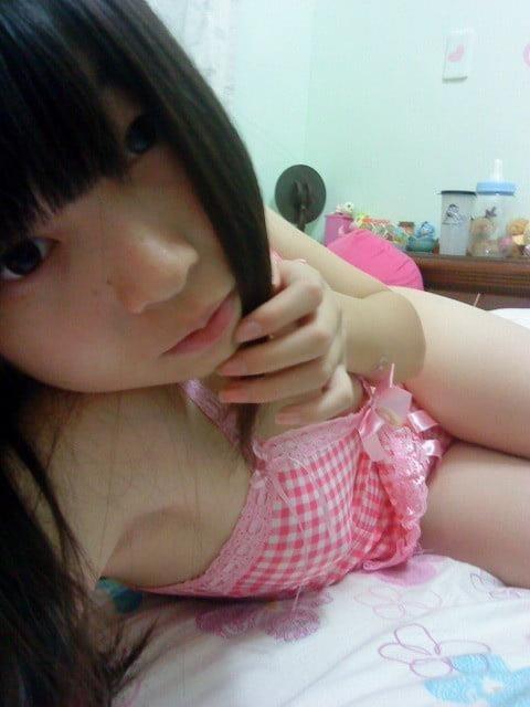 Nude japanese selfie-5767