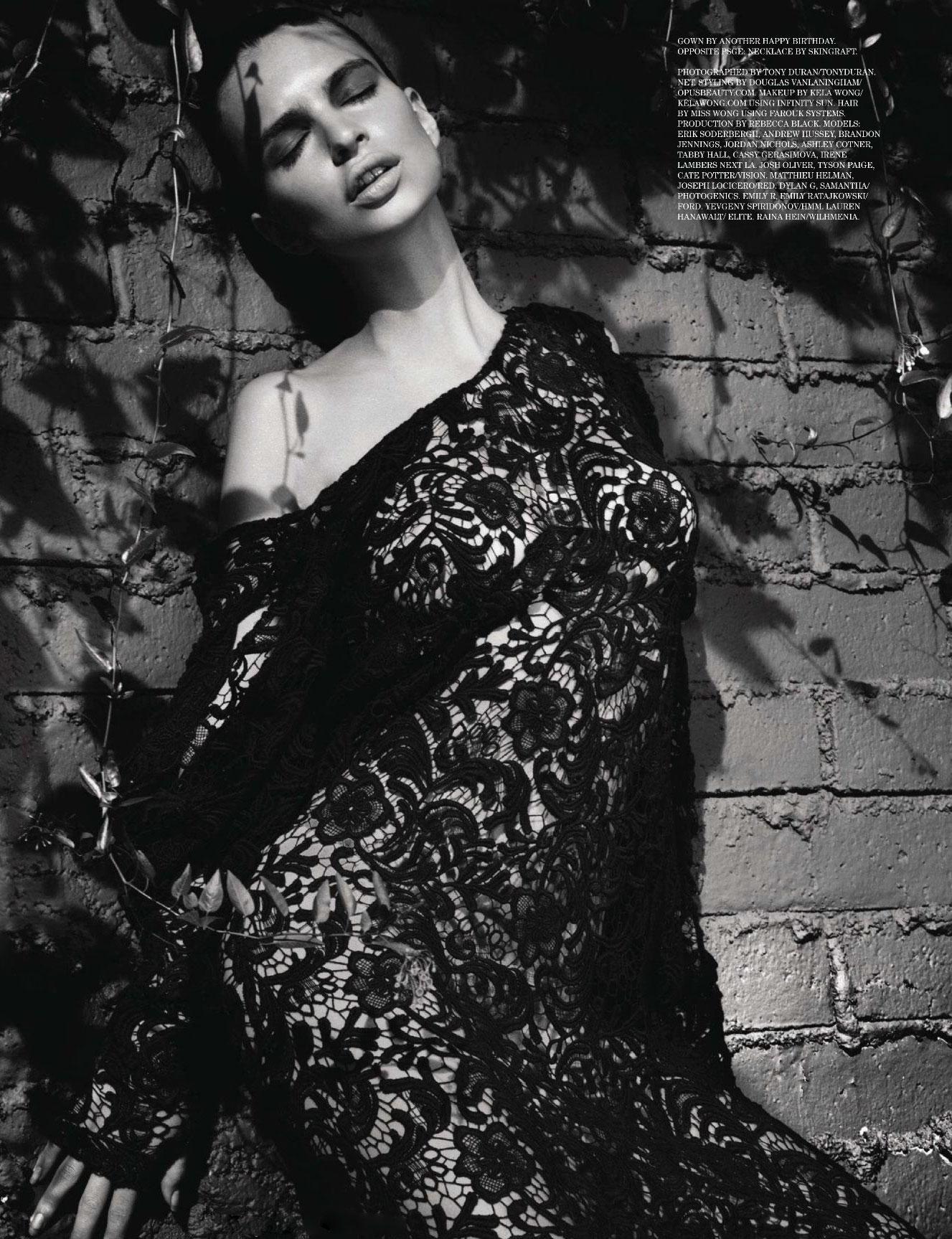 Emily Ratajkowski and other / The Casting by Tony Duran / Treats! Magazine issue 01 spring 2011