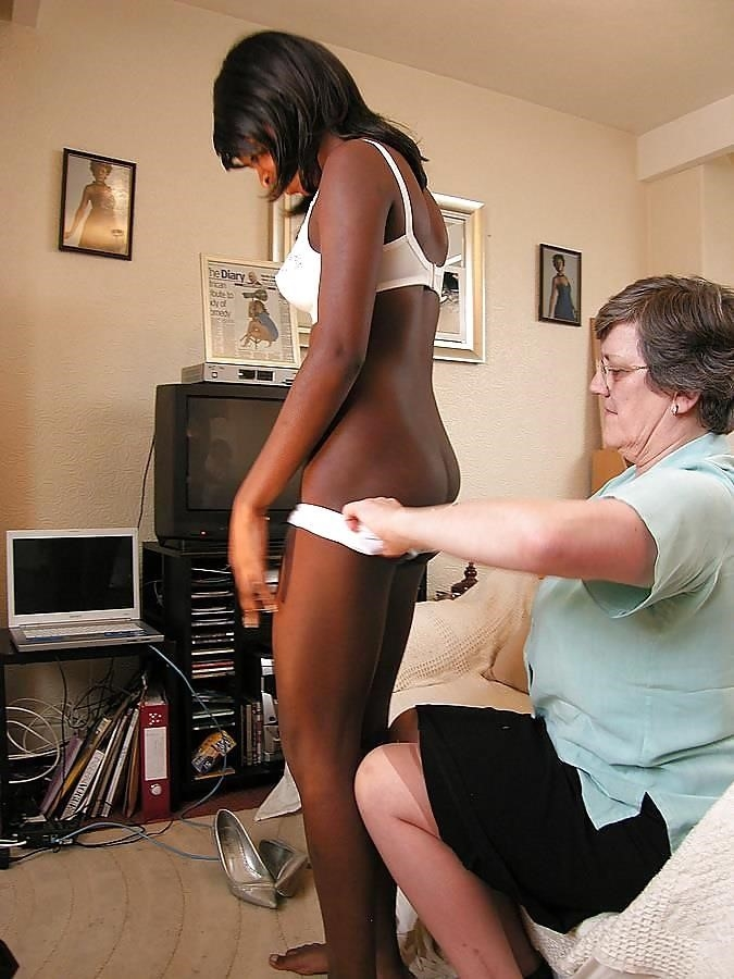 Old white guy young black girl-2553