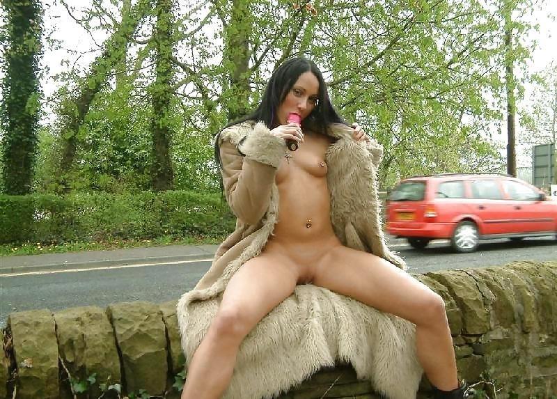 Teen dildo in public-9498