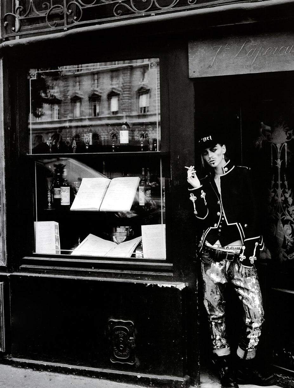 В шкуре Джона Гальяно / Саша Пивоварова, фотограф Питер Линдберг / фото 10