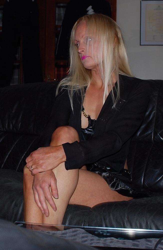 Black real leather mini skirt-1655