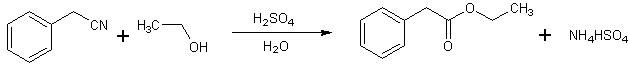 Etile fenilacetato reazione