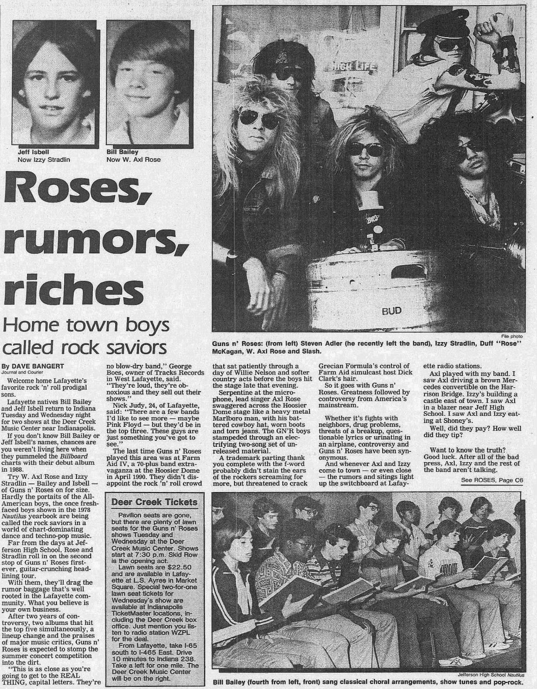 1991.05.26 - Journal and Courier - Roses, rumors, riches (Axl, Izzy) Dy9bHPKG_o