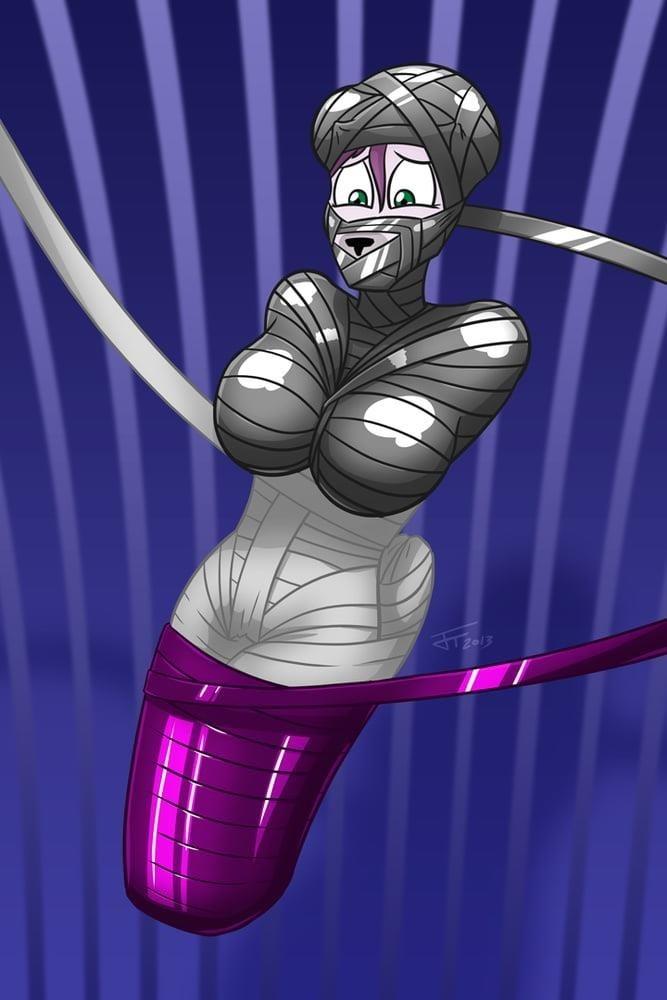 Girl in tape bondage-4008