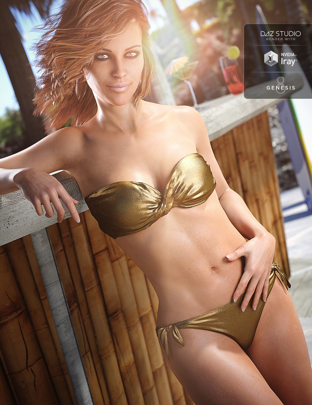 Bandeau Twist Bikini for Genesis 8