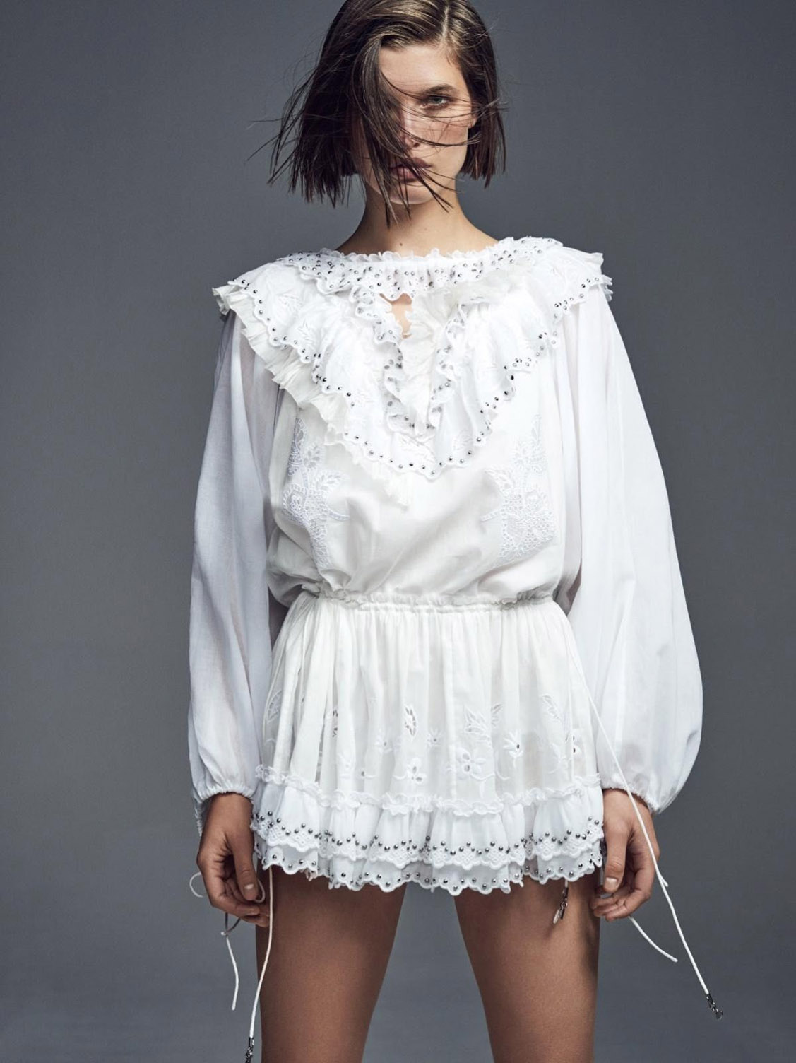 White Like Summer / Julia van Os by Nathaniel Goldberg / Vogue Paris April 2019