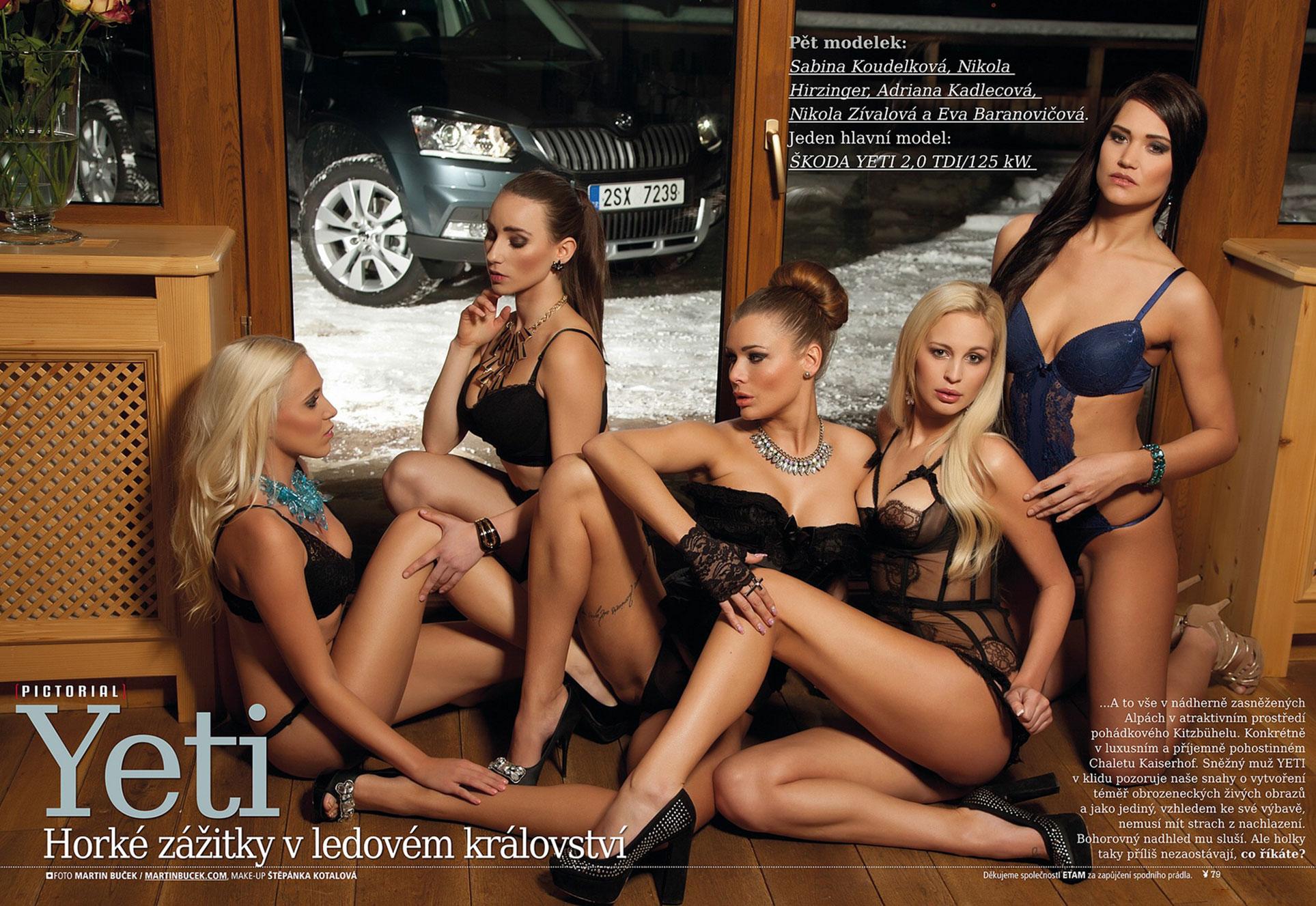 Nikola Hirzinger, Adriana Kadlecova, Eva Baranovicova, Sabina Koudelkova, Nikola Zivalova by Martin Bucek / Playboy Czech Republic january-february 2014
