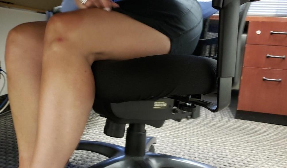 Under the desk foot worship-3139