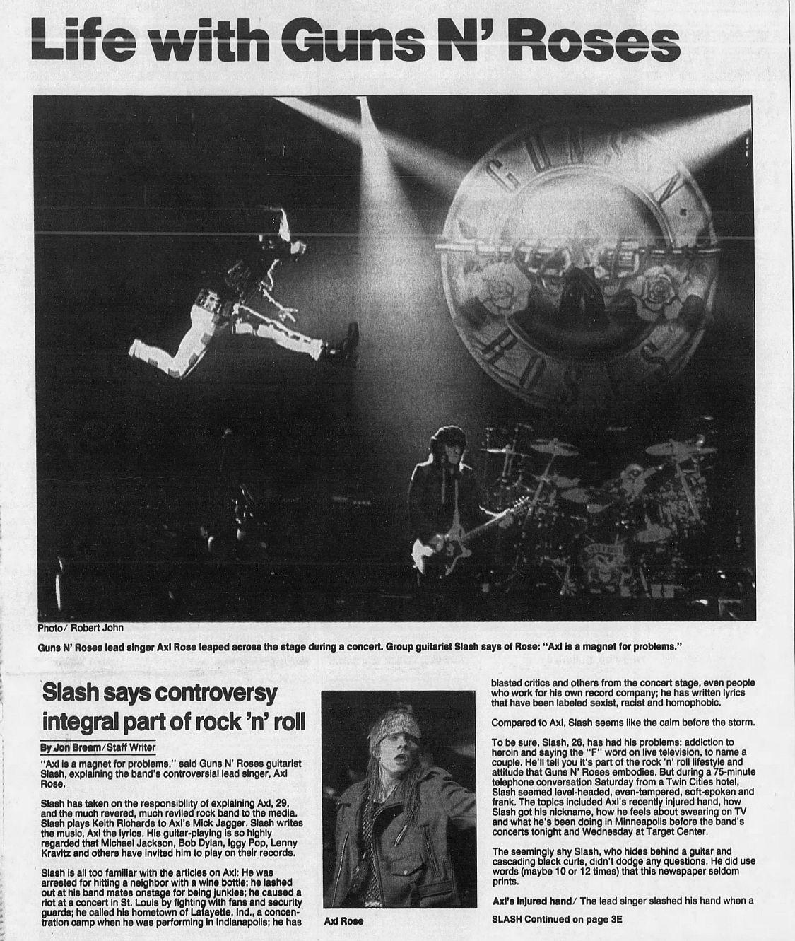 1992.01.21 - Star Tribune - Life with Guns N' Roses (Slash) 87dR8KSu_o