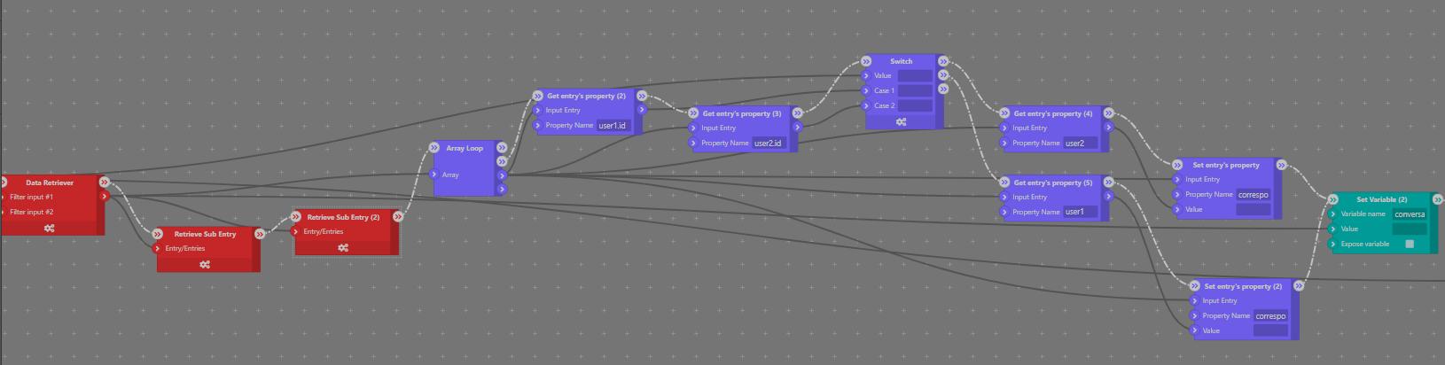 User1/User2 Workflow Logic - Sktch.io No-Code Builder