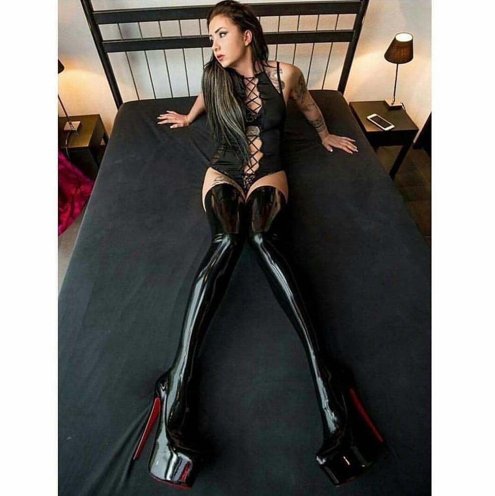 Latex stockings porn pics-1668