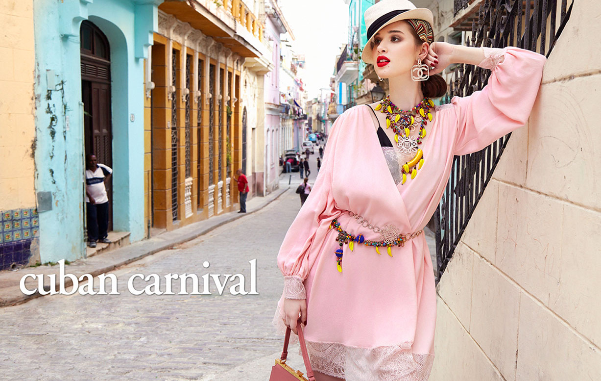 Cuban Carnival / Anais Pouliot by Enrique Vega / Vogue Taiwan june 2017
