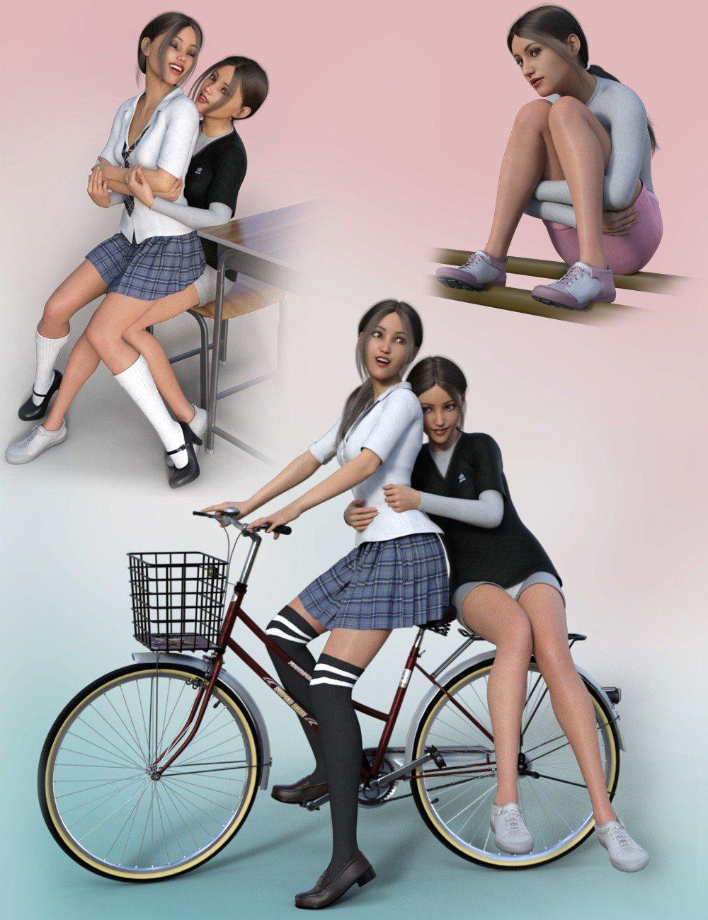 School Girl Poses for Genesis 8 Female(s)