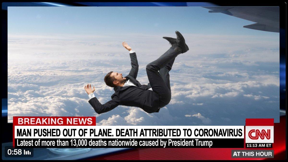 Żart: mężczyzna wypchnięty z samolotu, zmarł na koronawirusa