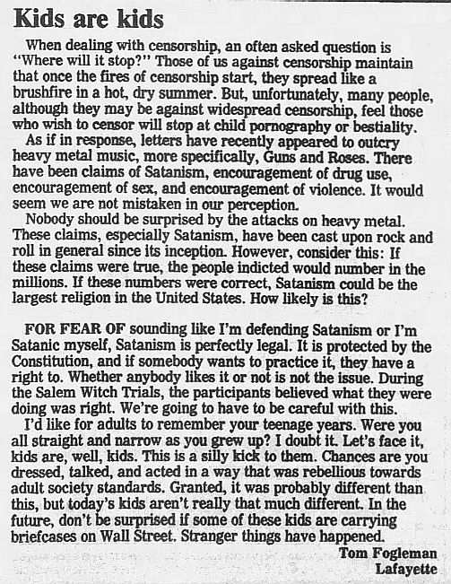 1989.02.21/04.10 - Journal and Courier (Lafayette, IN.) - Readers' letters/Debate on GN'R 8qe9wmMl_o