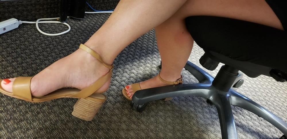 Under the desk foot worship-2833