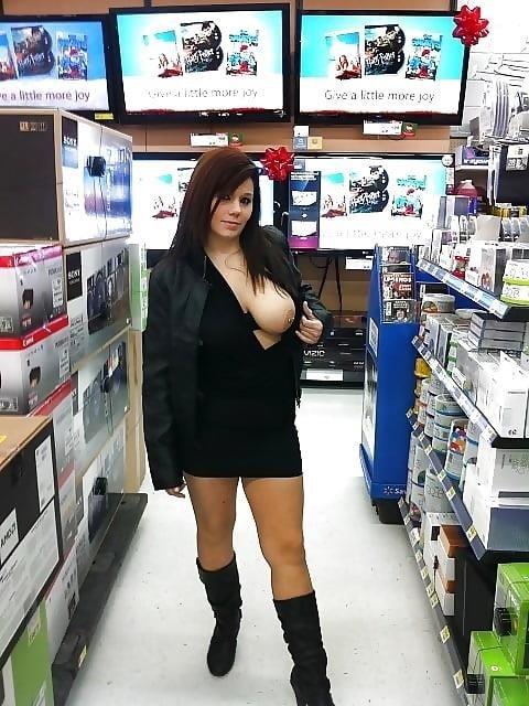Busty public nudity-6305