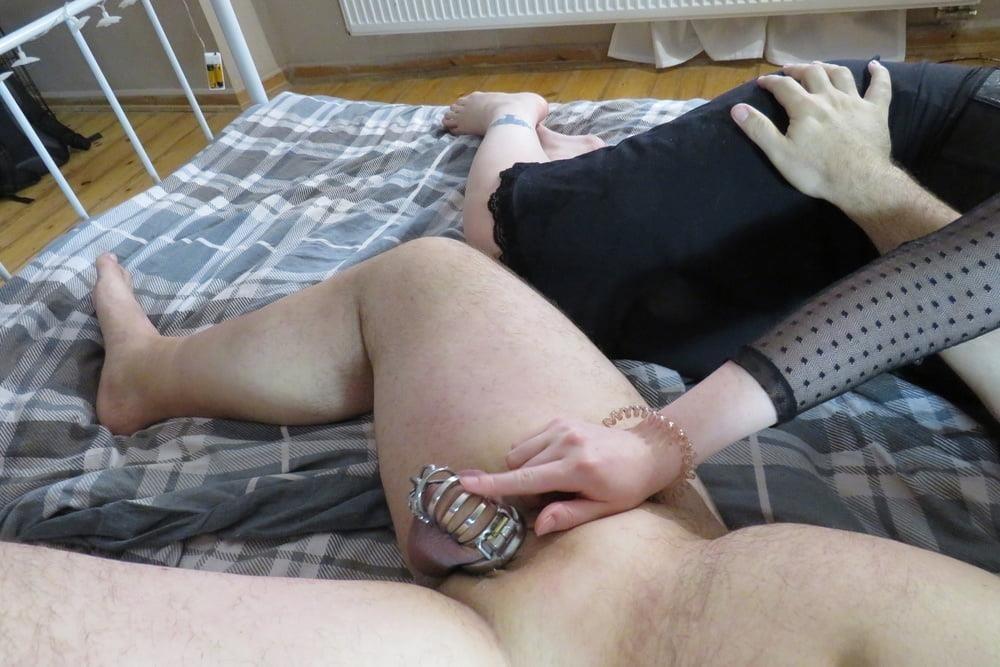 Femdom chastity cunnilingus-8473
