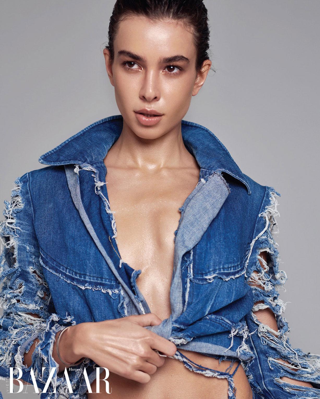 Иветта Макарова в модной джинсовой одежде / фото 04