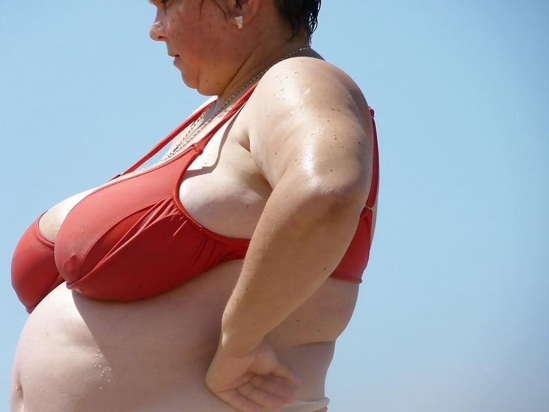 Nude big boobs on beach-5462
