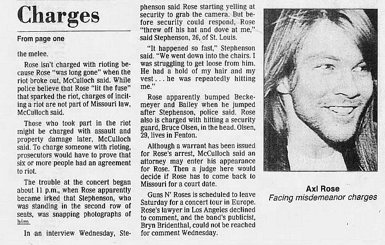 1991.08.08 - The St. Louis Post-Dispatch - Axl Rose Charged In Riot WPWkxsPk_o