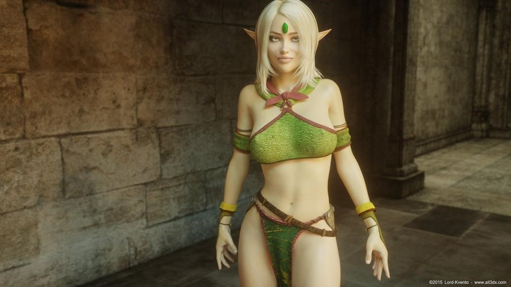Sexy anime elf girl-3219