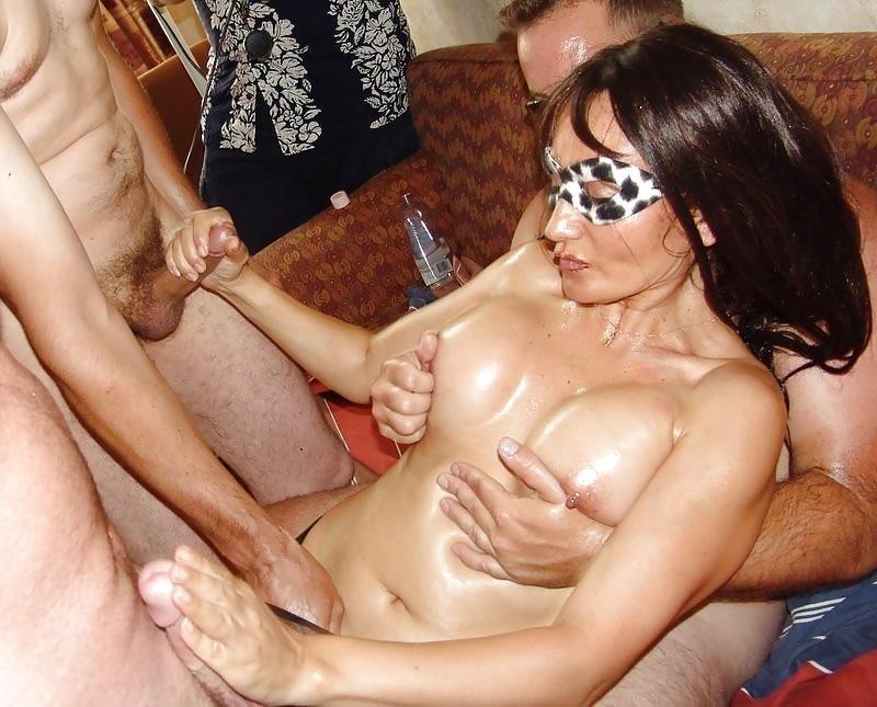 Wife in bukkake-5543