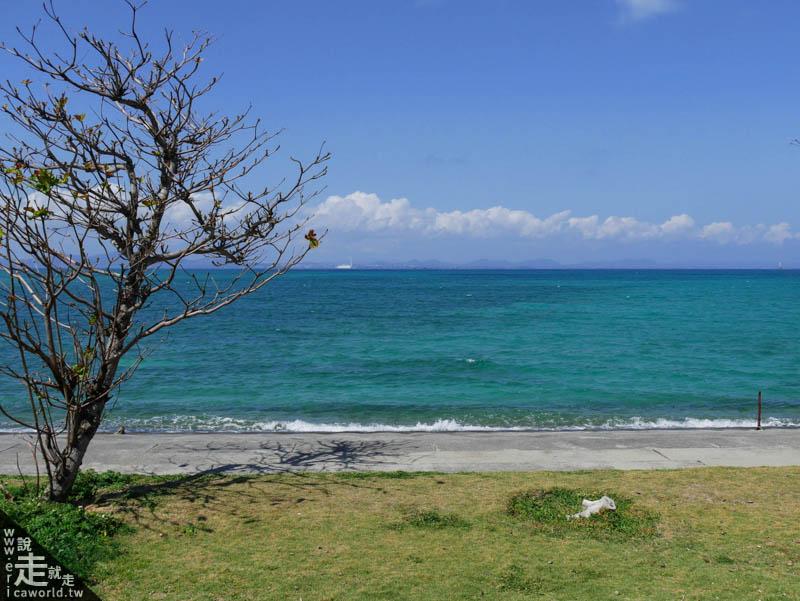 往平安座島的海中道路