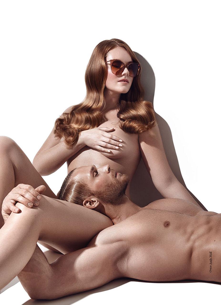Голые девушки в очках / фото 02