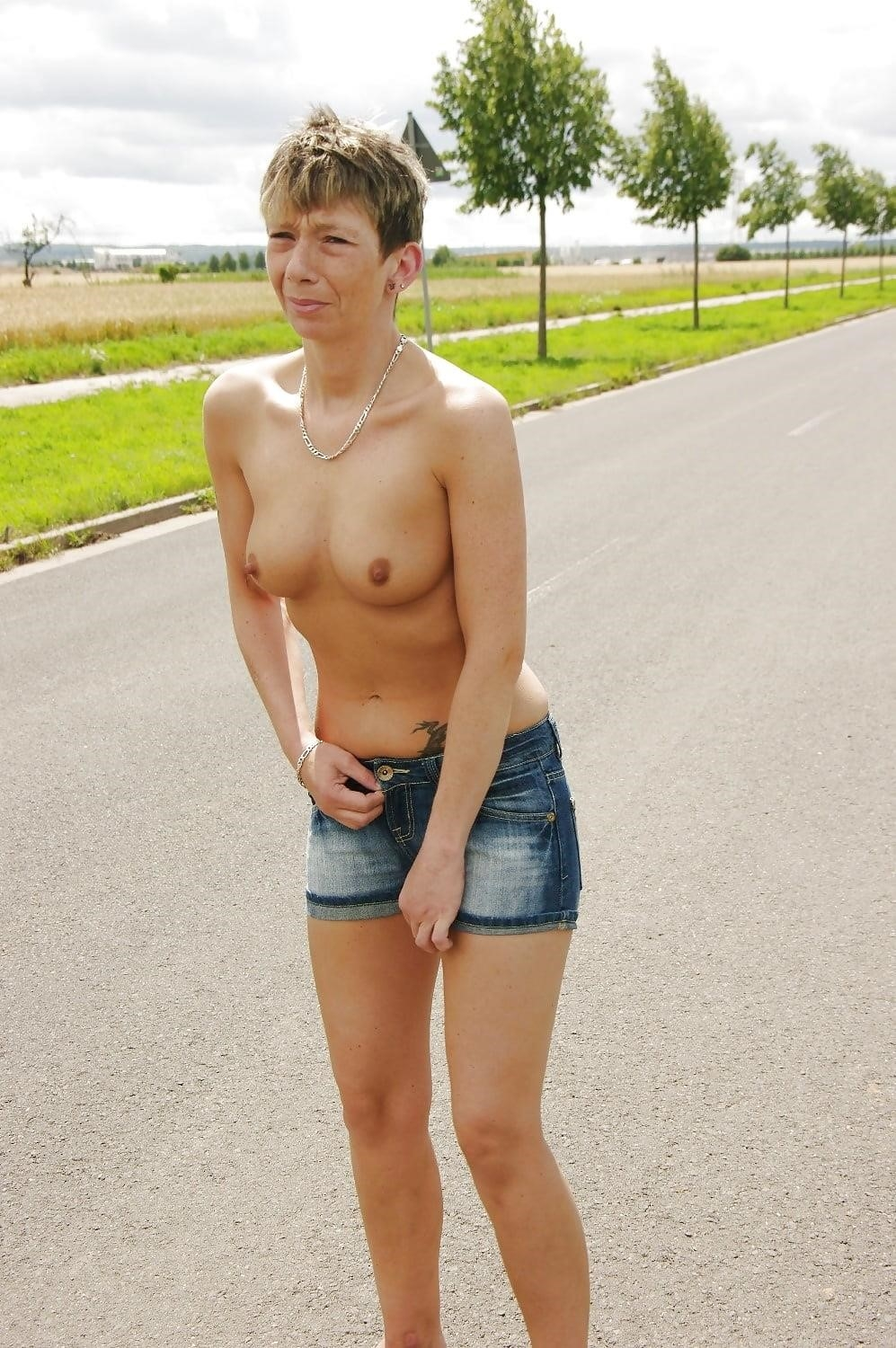 Naked girl with jeans-9325